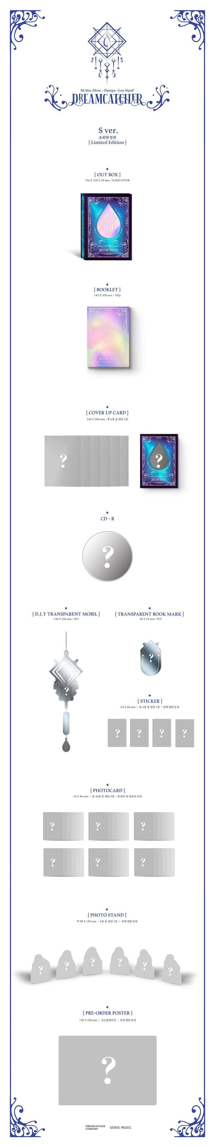 DREAMCATCHER - 5th Mini [Dystopia : Lose Myself] (S.ver Limited Edition) + Poster