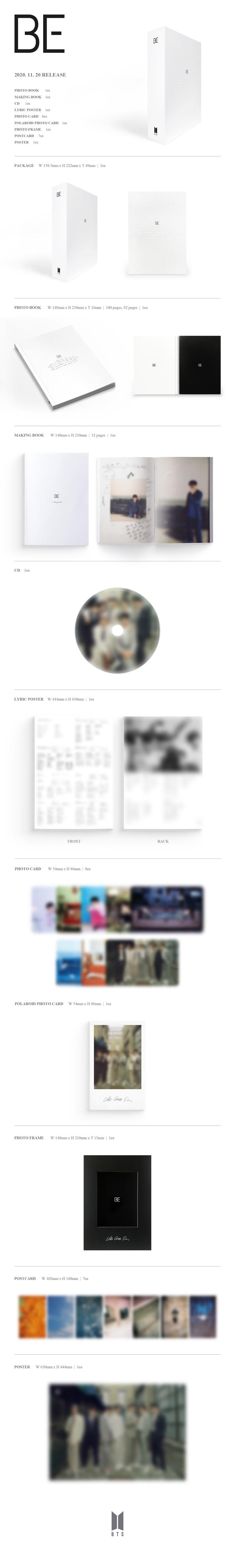 BTS BE(Delux Edition) + Weverse Gift + Poster