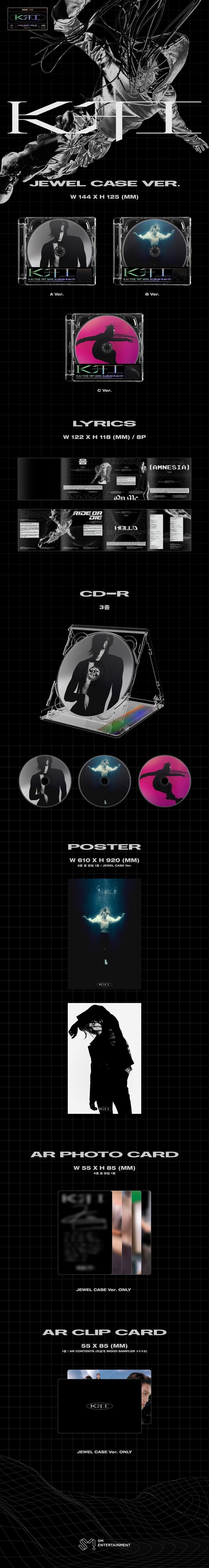 KAI - 1st Mini [KAI (开)] (Jewel Case Ver.) (Random Ver.) + Poster