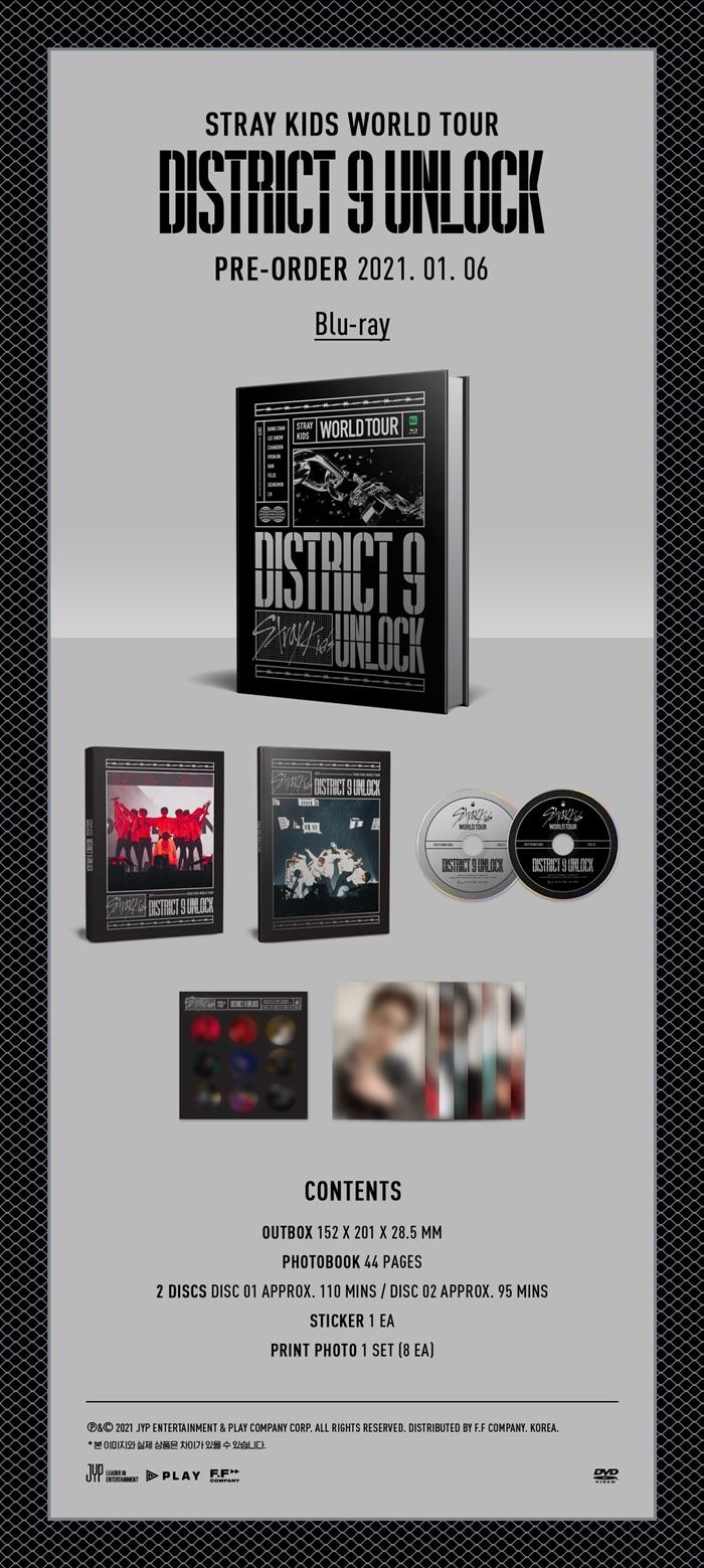 [BLU-RAY] Stray Kids - Stray Kids World Tour [District 9 : Unlock] in SEOUL + Poster