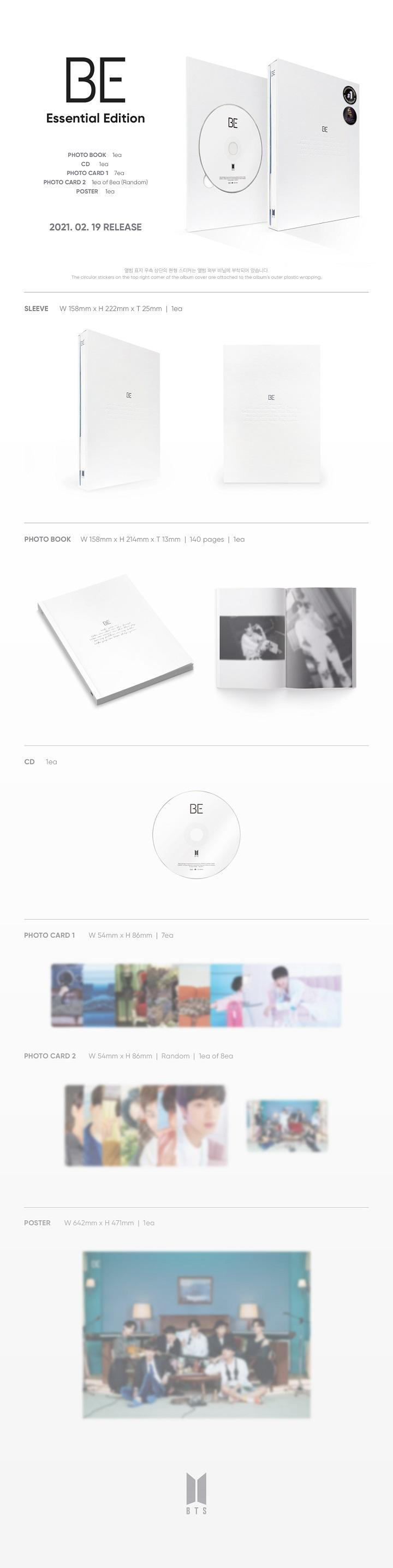 BTS - BE (Essential Edition)  + Weverse Gift
