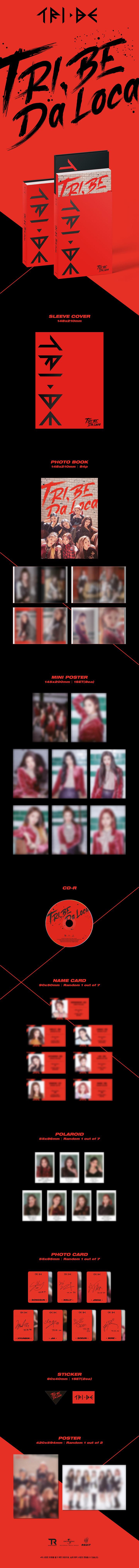 TRI.BE - 1st Single [TRI.BE Da Loca] + Poster