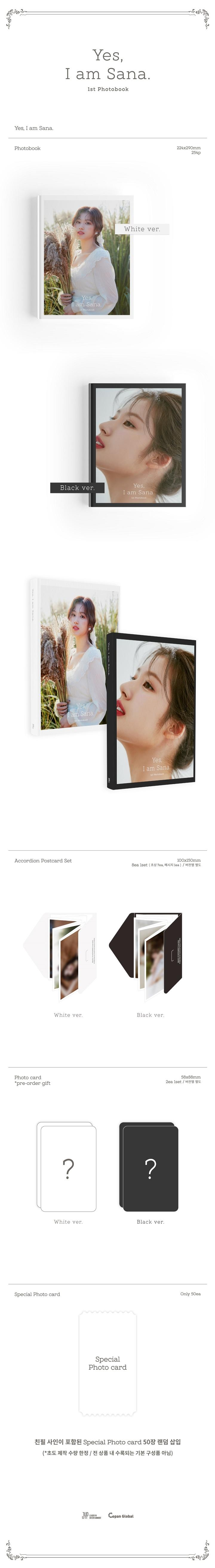 Sana - 1st PHOTOBOOK [Yes, I am Sana] (White Ver.)