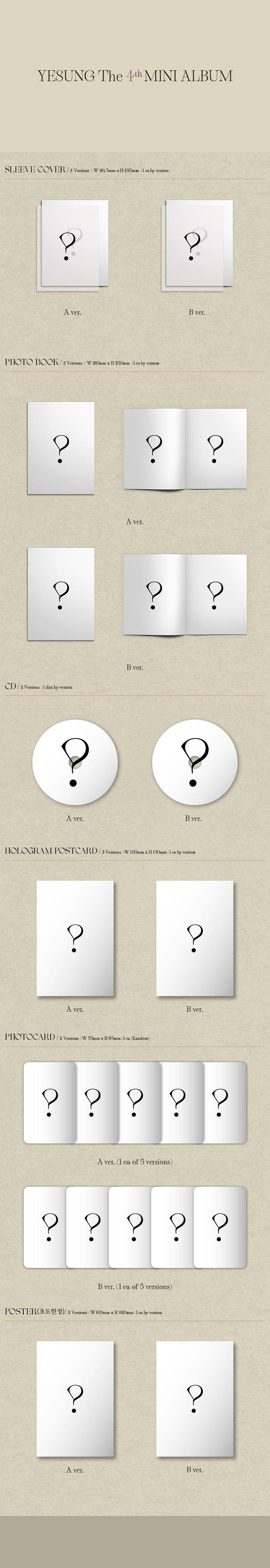 YESUNG - 4th Mini [Phantom Pain] (Photo Book Ver.) (Random Ver.)