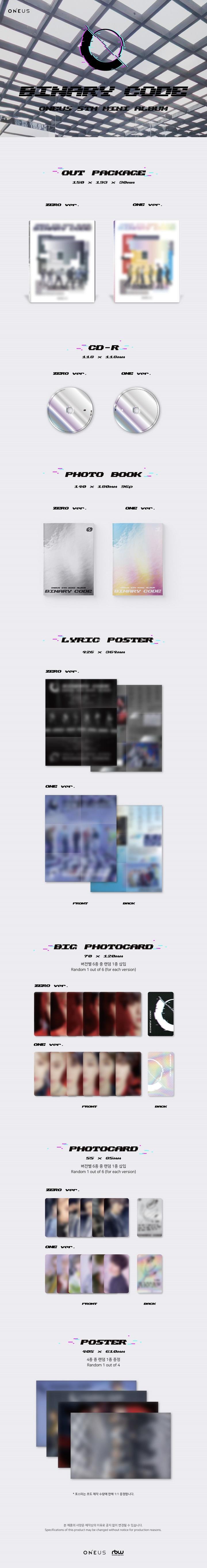 ONEUS - 5th Mini [BINARY CODE] (ONE Ver.)